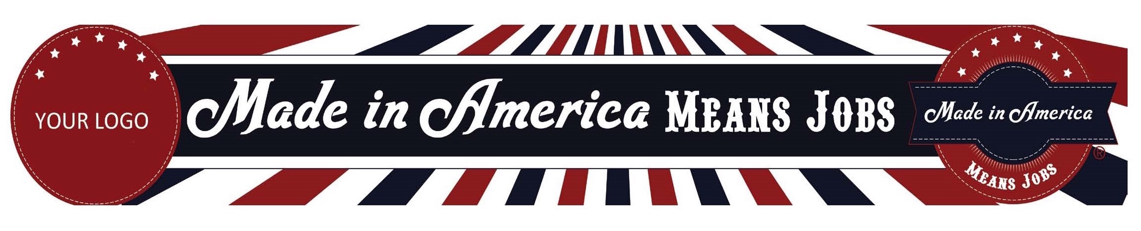 bumper sticker - made in american means jobs